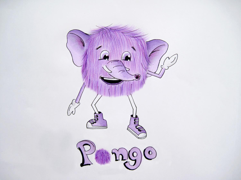 Ζωγραφίζοντας τον Πόνγκο, τον Σπάνιο Μωβ Ελέφαντα